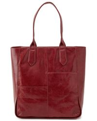 Hobo International Nahla Leather Tote - Red