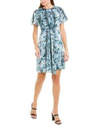 Elie Tahari Silk Sheath Dress - Blue