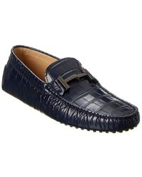 Tod's Gommini Leather Driver - Blue