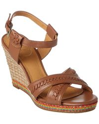 Jack Rogers - Abbey Leather Wedge Sandal - Lyst
