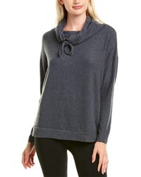 Eberjey Cosy Time The Cascading Turtleneck Top - Grey