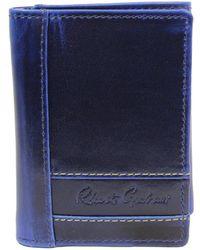 Robert Graham Belfast Leather Trifold Wallet - Blue