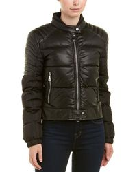 Moncler Clemantis Leather Jacket - Black