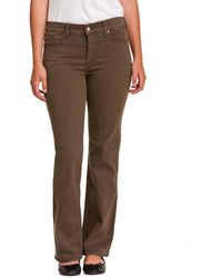"""NYDJ Not Your Daughter's Jeans Petite """"sarah"""" Earth Green Bootcut - Brown"""