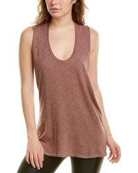 Lanston Twist Back Muscle T-shirt - Pink