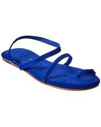 TKEES Mia Suede Flip Flop - Blue