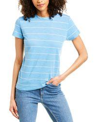 Vince Skinny Stripe T-shirt - Blue