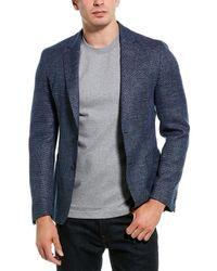 BOSS by HUGO BOSS Nold2 Wool & Linen-blend Sportcoat - Blue