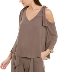 BCBGMAXAZRIA Cold-shoulder Top - Brown