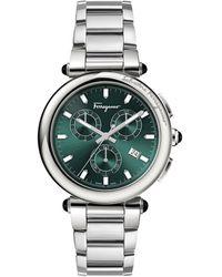 Ferragamo Idillio Chrono Watch - Green
