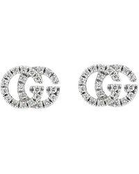 Gucci 18k GG Running Studs - Metallic
