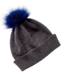 Portolano Folded Cuff Cashmere Hat - Gray