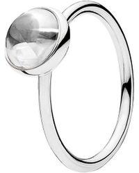 PANDORA Poetic Droplet Ring - Metallic