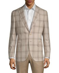 Isaia - Plaid Wool Blend Sportcoat - Lyst
