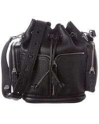 Fendi Mon Tresor Leather Bucket Bag - Black