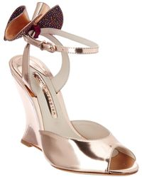 Sophia Webster - Rizzo Holographic Leather Wedge Sandal - Lyst