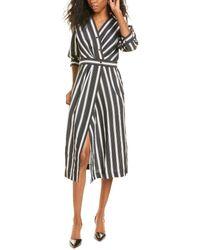 Sandro Carl Striped Midi Dress - Black