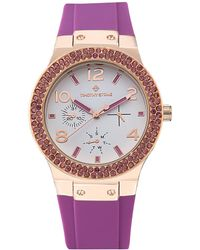 Timothy Stone Facon Crystal Sport Watch - Pink