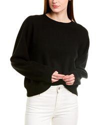 Vince Double-layer Cashmere Top - Black