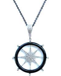 Arthur Marder Fine Jewelry Silver 1.63 Ct. Tw. Diamond Pendant Necklace - Metallic