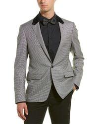 Lanvin D8 Slim Fit Wool-blend Jacket - Gray