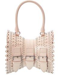 Alaïa Sac Corset 18 Leather Shoulder Bag - Pink