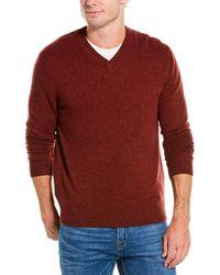 RAFFI V-neck Cashmere Jumper - Red