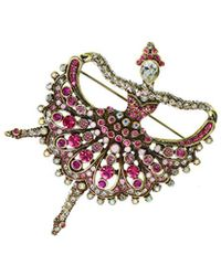 Heidi Daus Crystal Pin - Multicolour