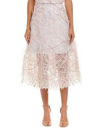 Carolina Herrera Silk-lined Midi Skirt - Pink