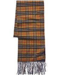 Burberry Long Reversible Vintage Check Cashmere Scarf - Multicolour