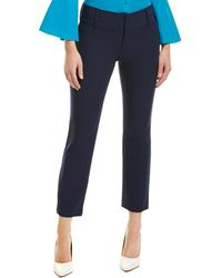 Alice + Olivia Stacey Slim Ankle Pant - Blue