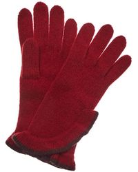 Portolano Ashton Red & Sienna Cashmere Gloves