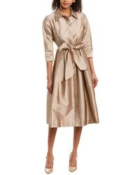 Teri Jon By Rickie Freeman Mini Dress - Brown