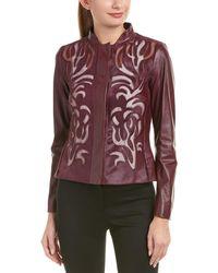 ESCADA Leather-blend Jacket - Multicolour