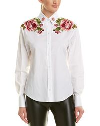 Dolce & Gabbana - Floral Embroidered Buttondown Shirt - Lyst