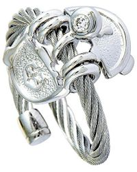 Charriol Stainless Steel Zircon Ring - Metallic