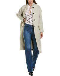Ba&sh Manteau Wool-blend Coat - Grey