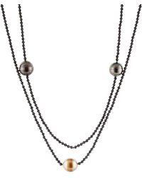 Splendid - Spinel 11-12mm Tahitian Pearl Necklace - Lyst