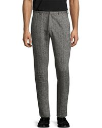 Shades of Grey by Micah Cohen - Linen Woven Suit Trouser - Lyst