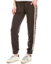 Monrow Leopard Sporty Sweatpant - Grey