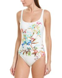 Johnny Was Lei Floral Tank One-piece - White