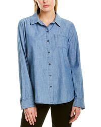 NYDJ Chambray Aline City Shirt - Blue