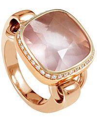Poiray 18k Rose Gold 8.61 Ct. Tw. Diamond & Quartz Ring - Metallic