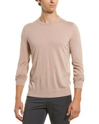 Theory Riland Wool-blend Crewneck Jumper - Pink