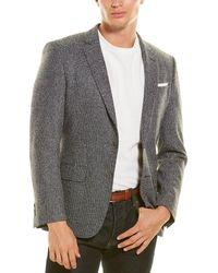 BOSS by HUGO BOSS Slim Fit Wool & Silk-blend Sport Coat - Blue