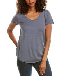 NIC+ZOE Traveller Cashmere-blend Top - Blue