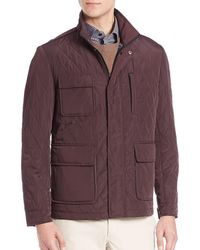 Saks Fifth Avenue - Stand Collar Quilted Jacket - Lyst