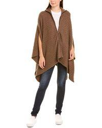 Autumn Cashmere Cashmere & Wool-blend Sweater Cape - Brown