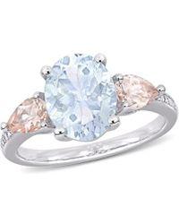 Rina Limor Silver 3.05 Ct. Tw. Diamond & Gemstone Ring - Metallic