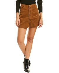 Sage the Label Outlaw Mini Skirt - Brown